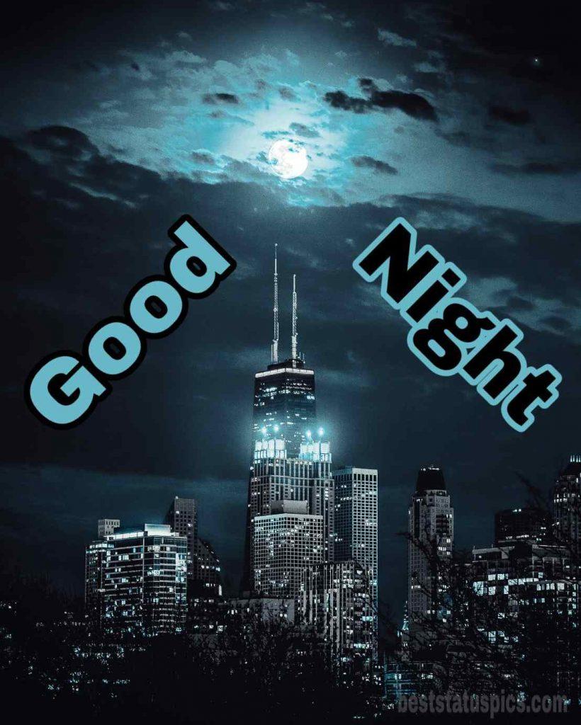 Good night image moon light