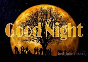Good night image with moon