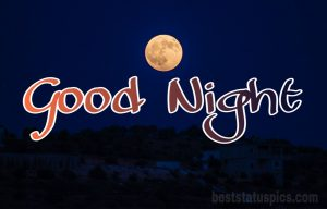 Image of good night with moon