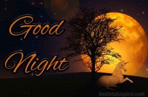 Lovely moon good night image