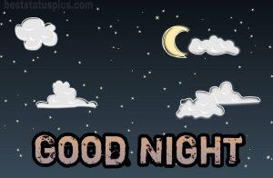 Good night fantasy moon and stars image