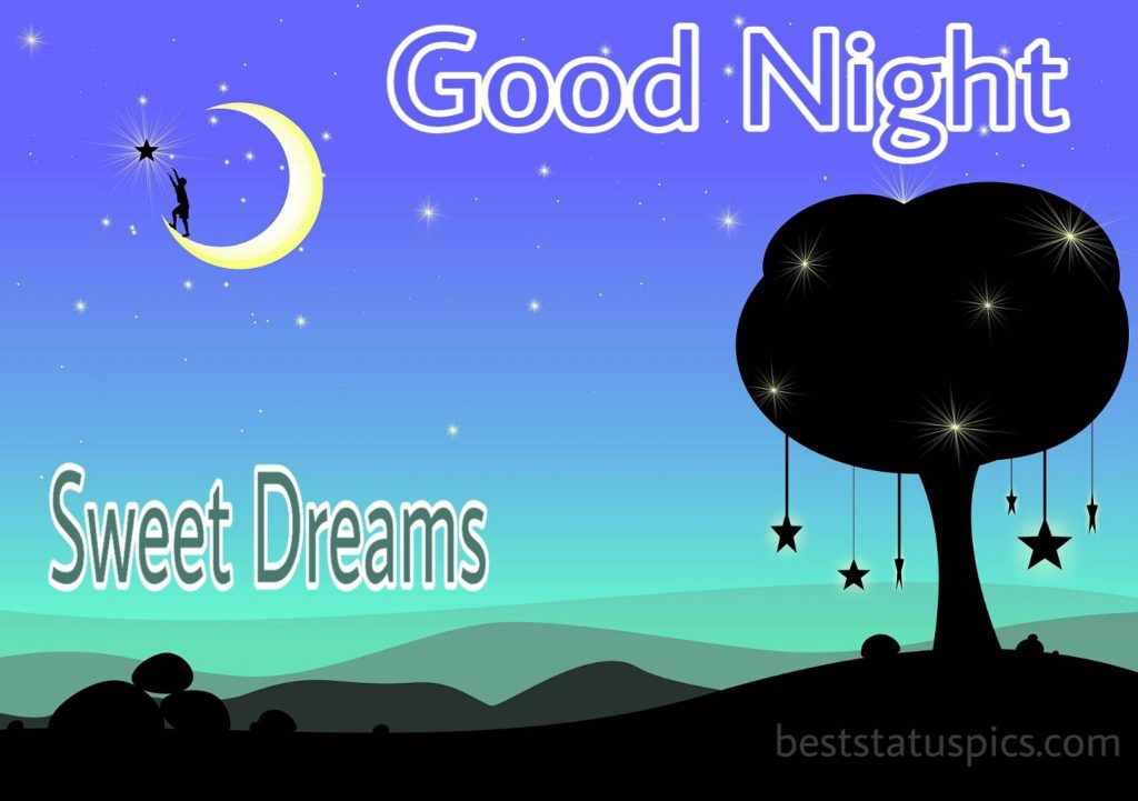 Good night half moon image