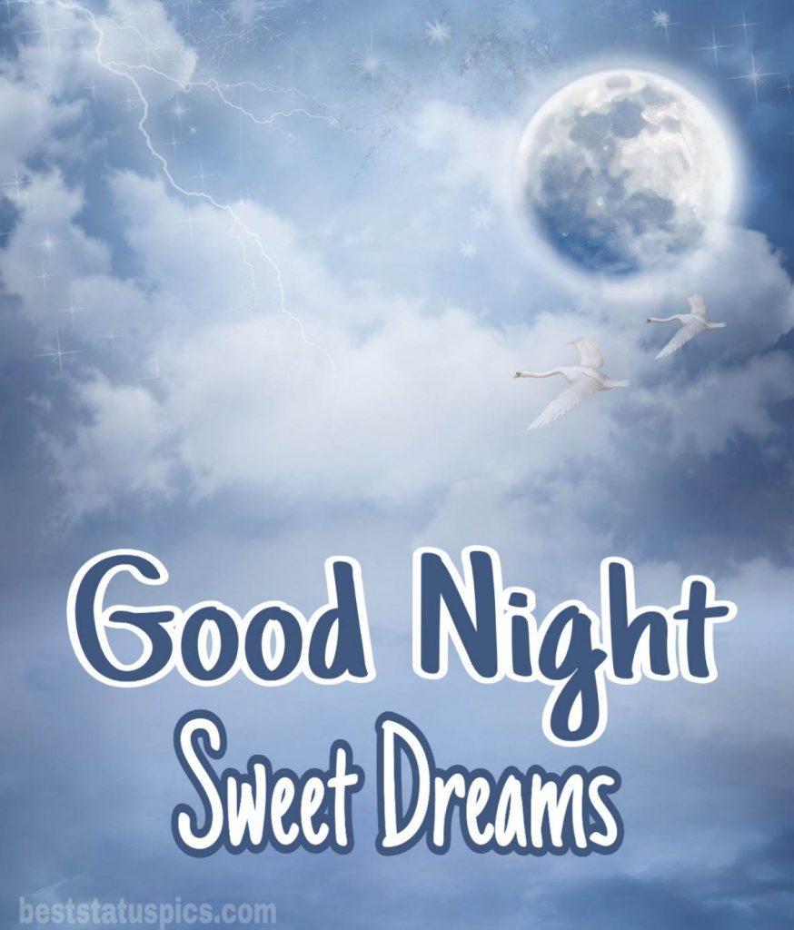 Good night sweet dreams moon image HD