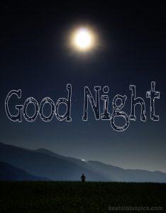 Good night moon light image