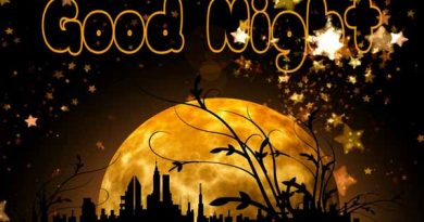 Good night with moon and stars image featured