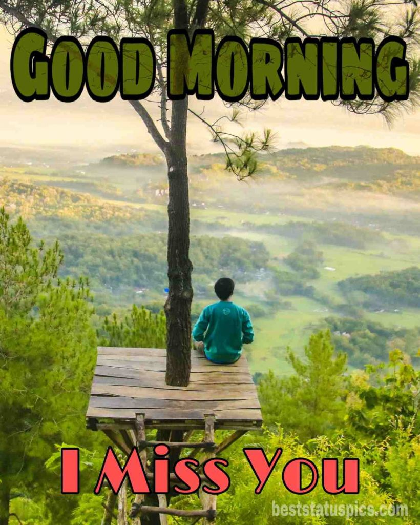 Good morning i miss you friend alone