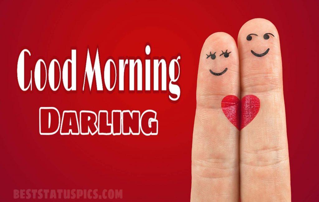 Romantic good morning for darling