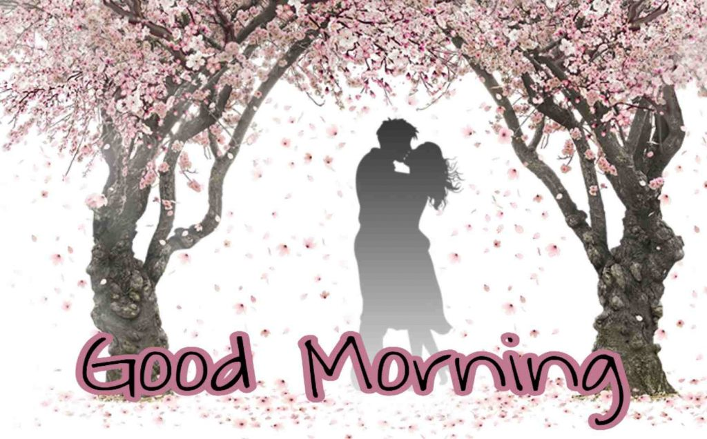 Picture of good morning love couple kisses