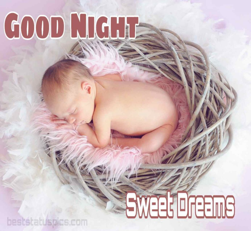 Little baby good night image with sleeping