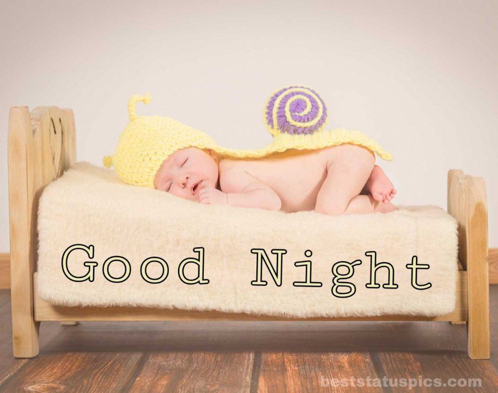 Cute baby good night image hd with sleeping