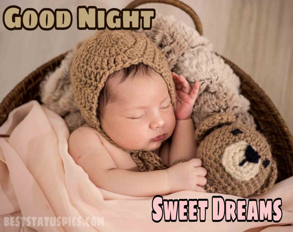 Beautiful baby good night sleeping image