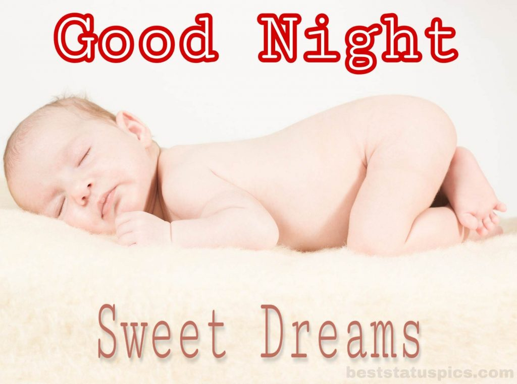 Small baby good night sweet dreams image