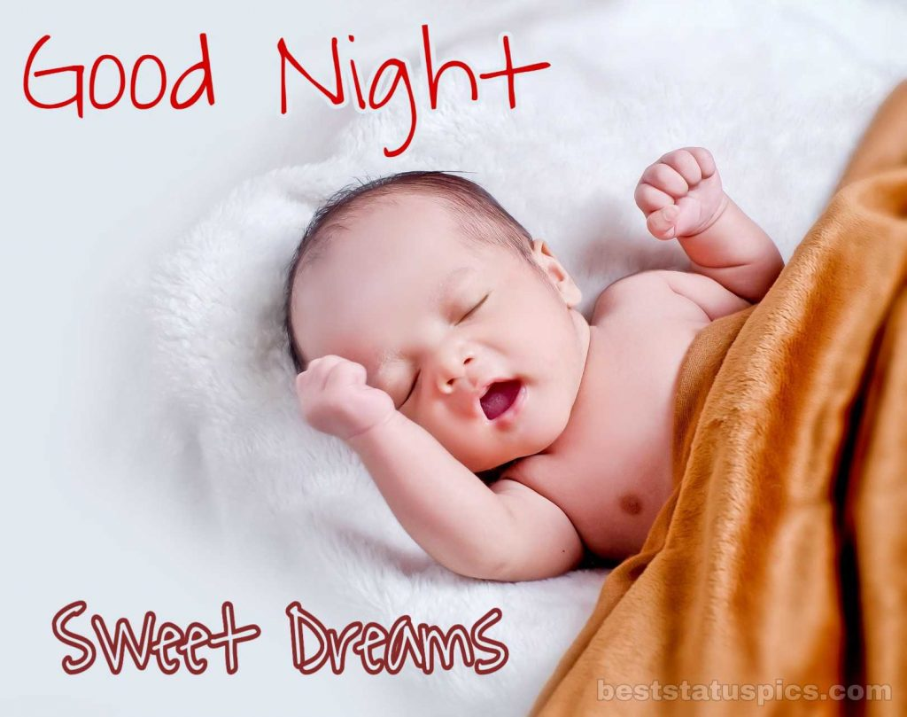 Funny baby good night image