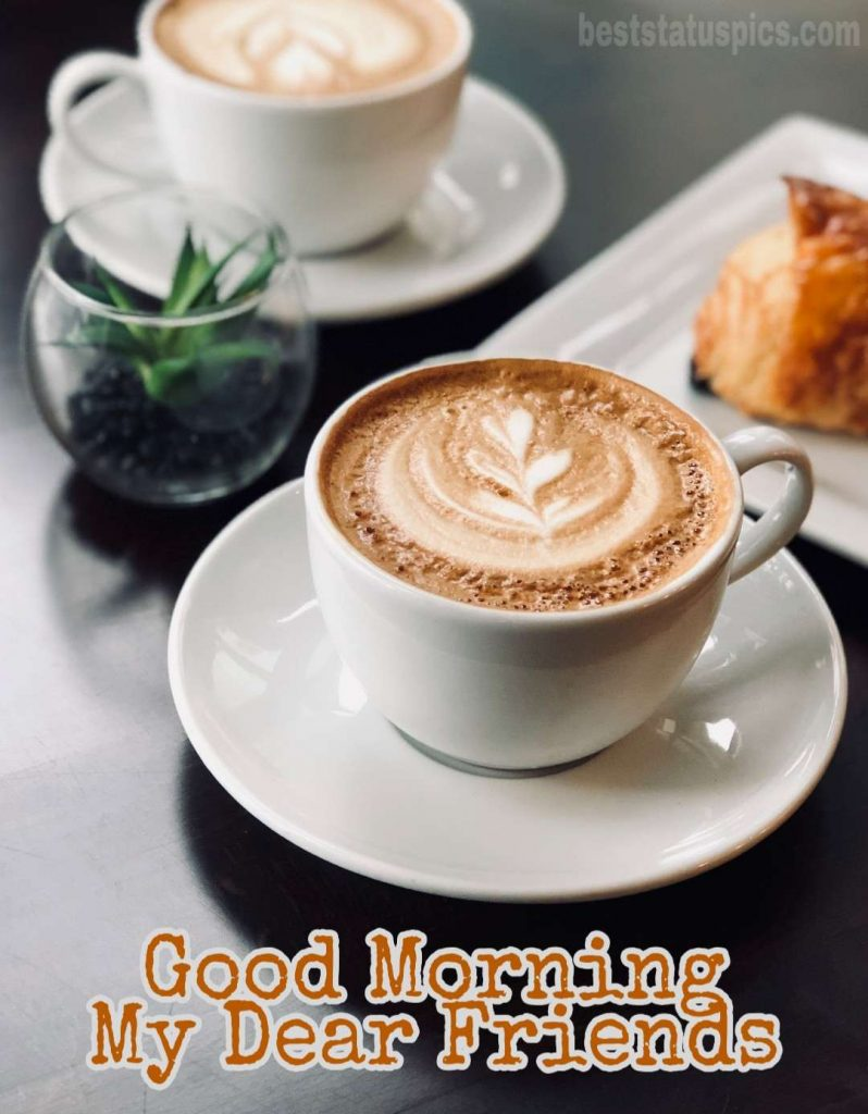 Good morning my friends images HD with coffee
