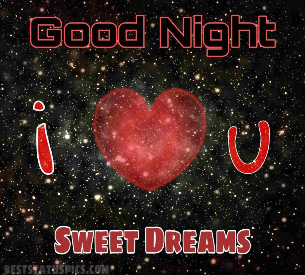 Good night wishes for lover with I love you