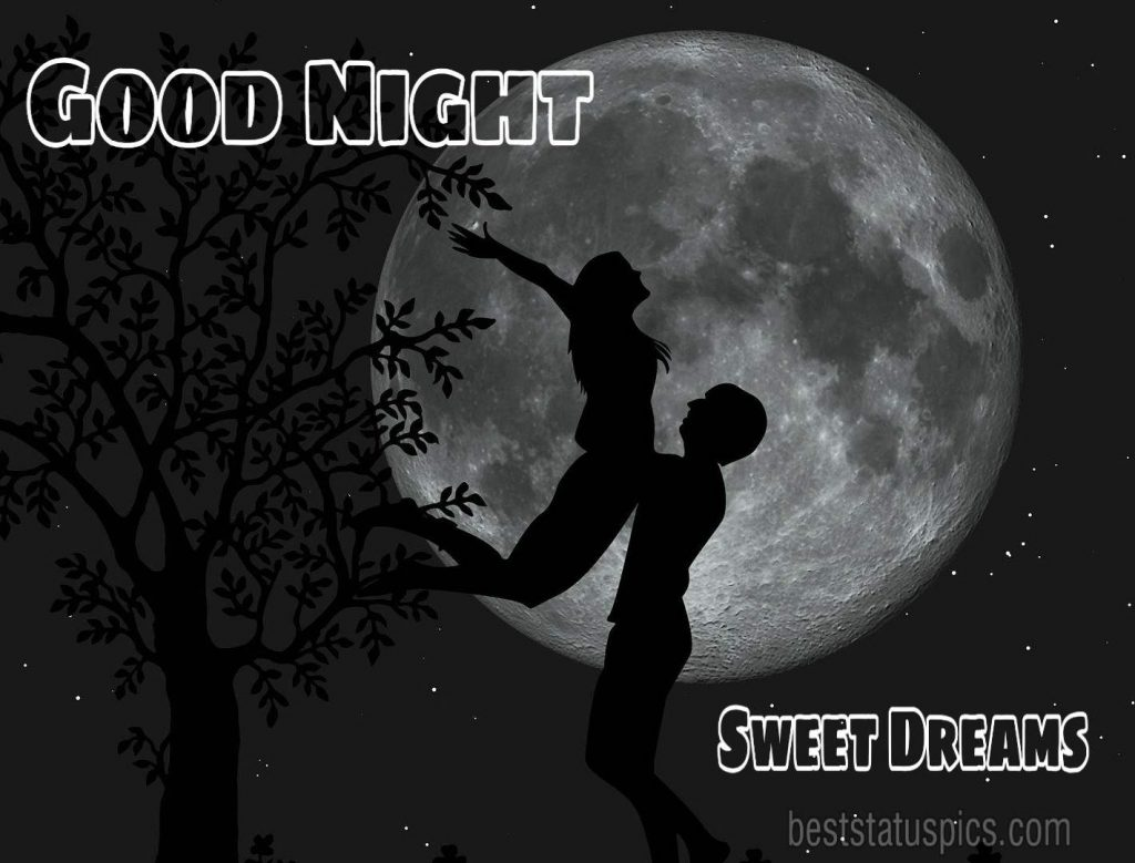 Good night images with love couple HD