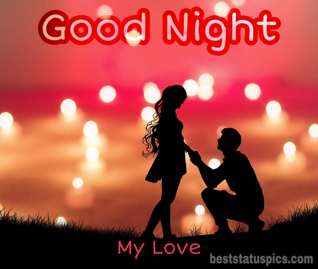Good night romantic couple images