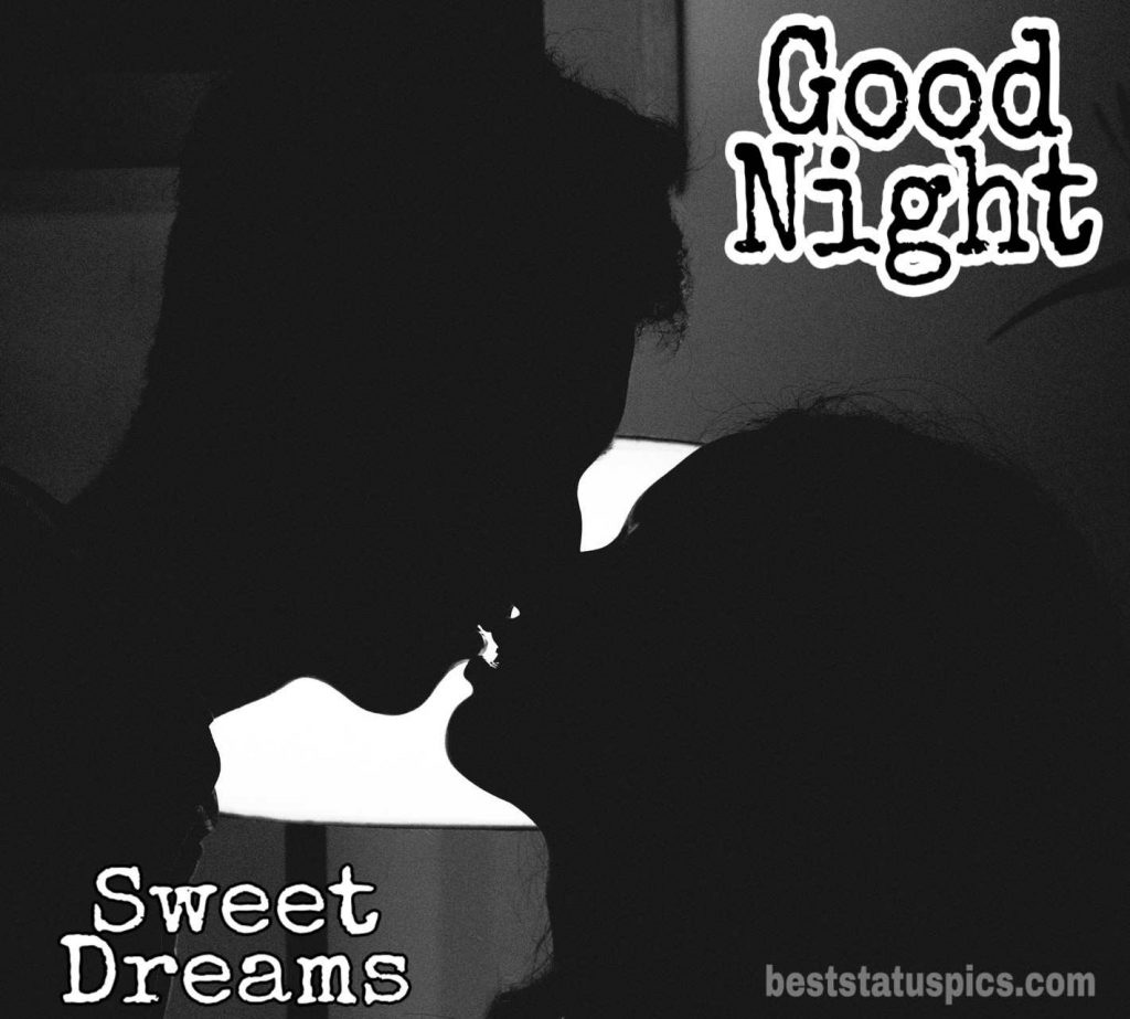 Good night image with love couple kiss download