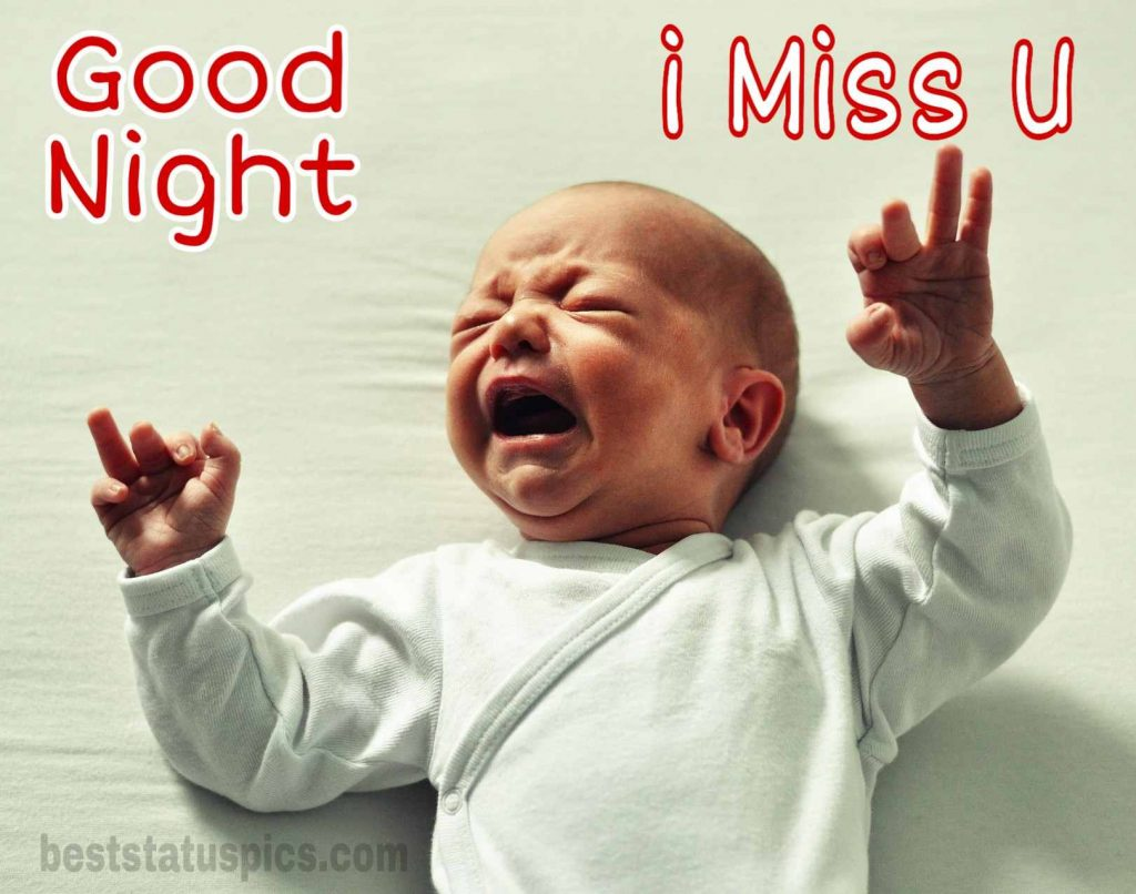 Good night i miss you baby images for sweetheart