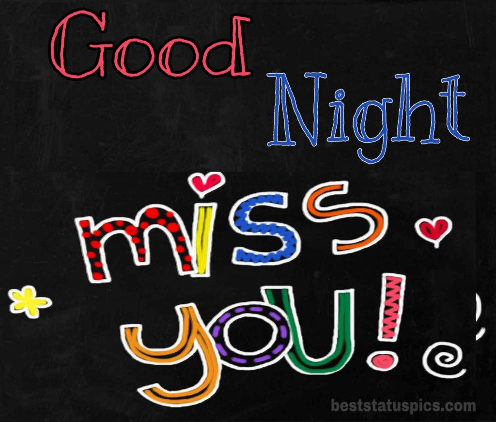 Good night i miss you for whatsapp dp