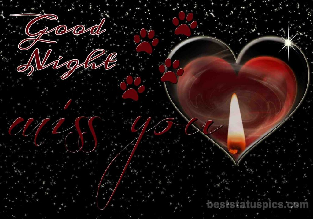 I miss you good night image with love