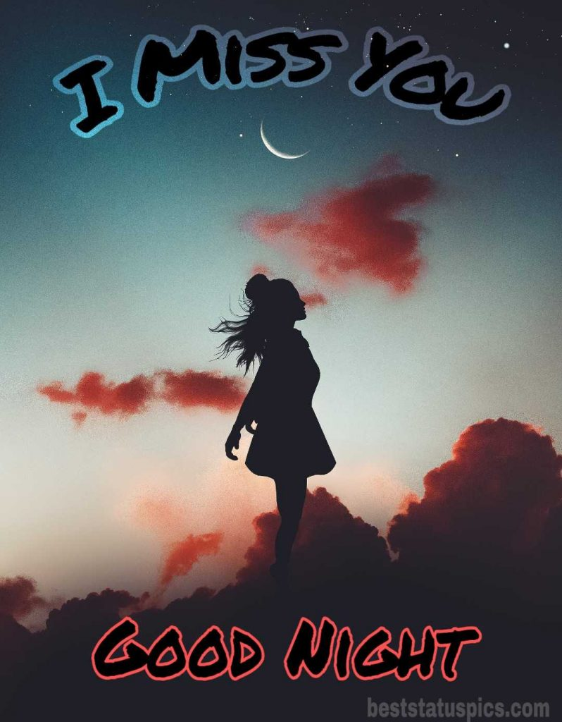 I miss you good night photo for lover