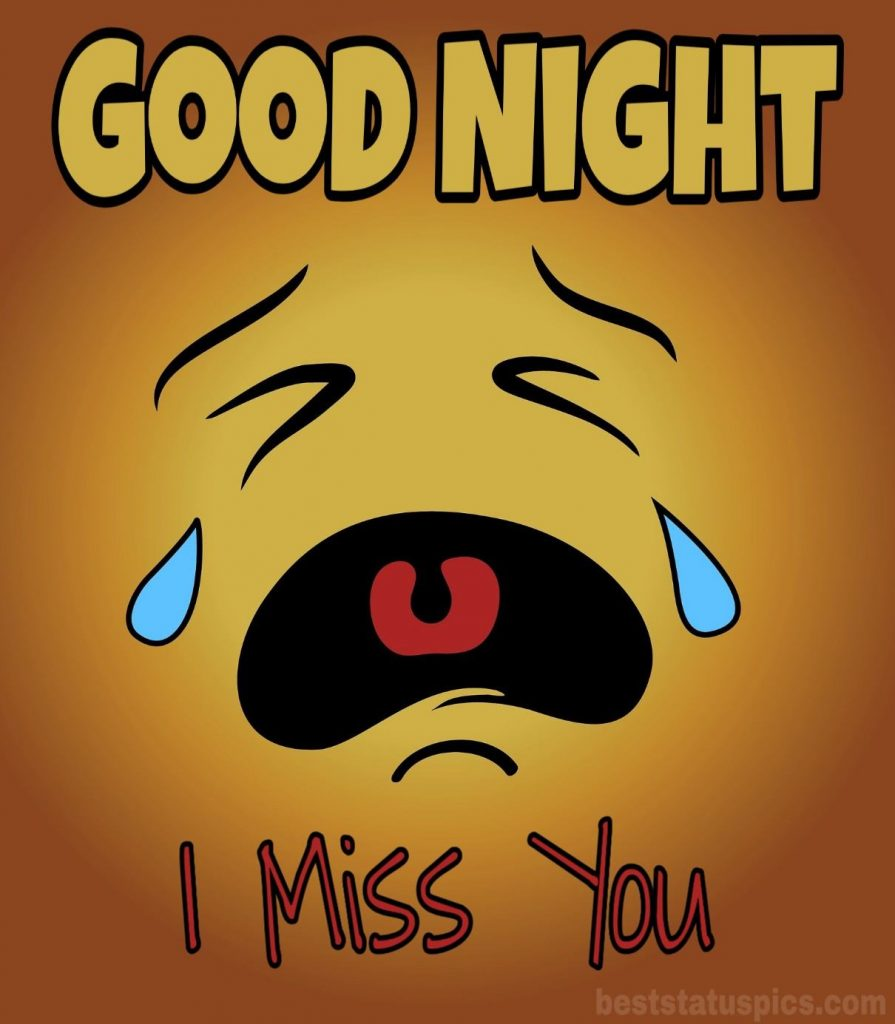 Good night i miss you photo for lover