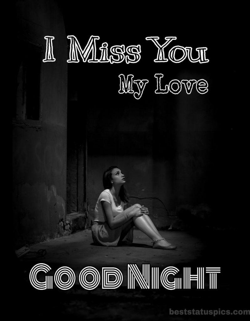 Good night miss u photo with love