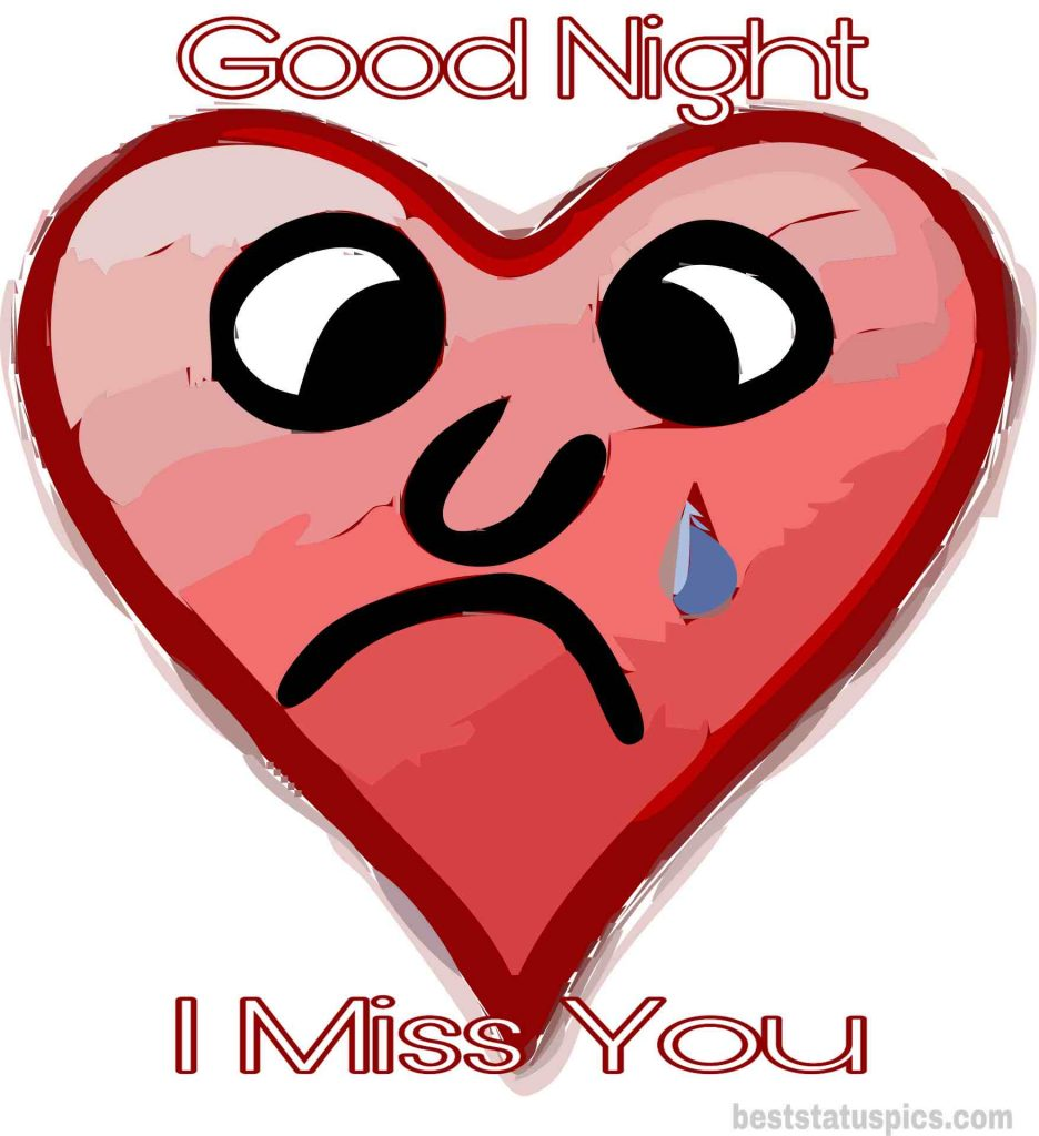 Good night i miss you pic with love