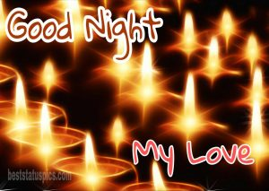 Good night my love images download