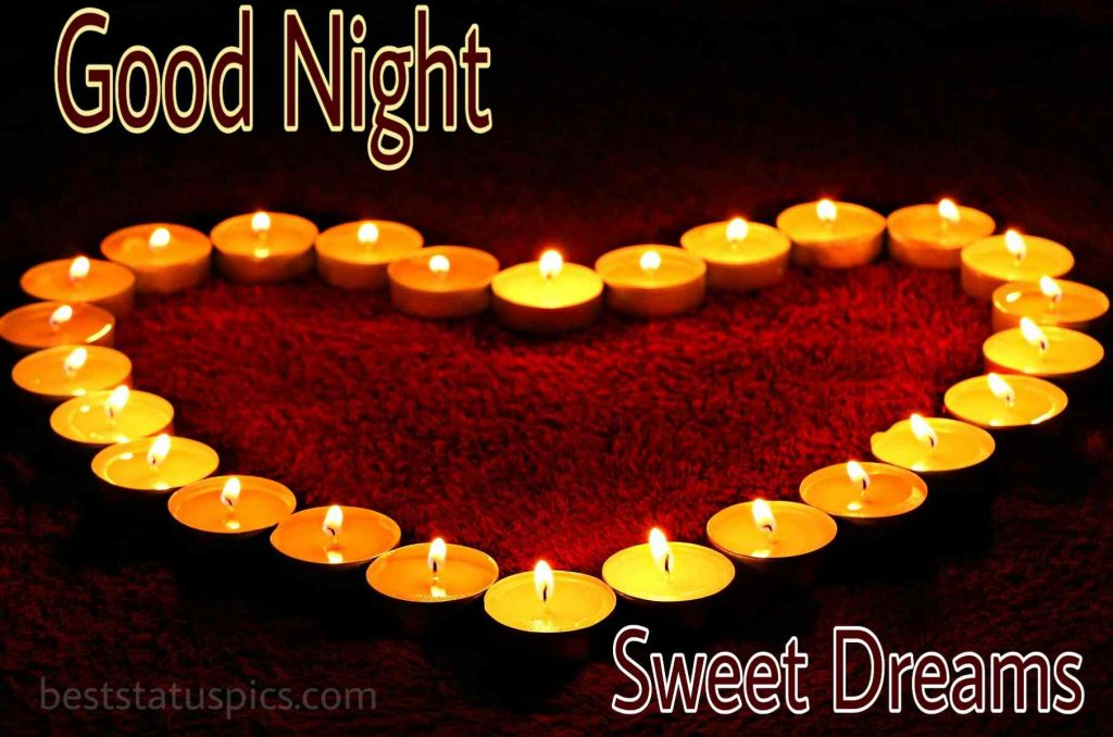Romantic good night love symbol images