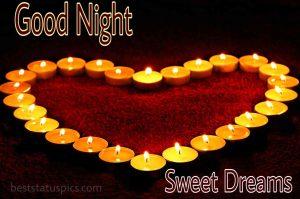 Romantic good night love symbol images