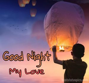 Good night my love romantic images