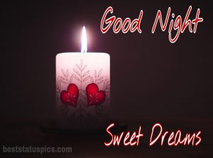 Romantic good night images of love candle