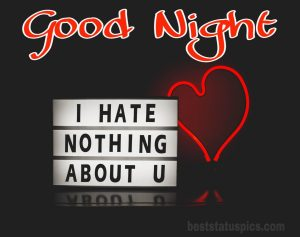 Good night love photo for girlfriend
