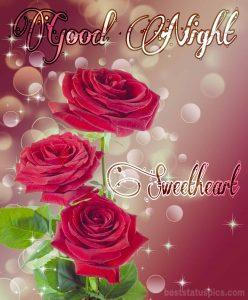 Good night beautiful rose images HD