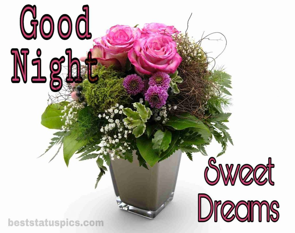 Good night rose images with quotes