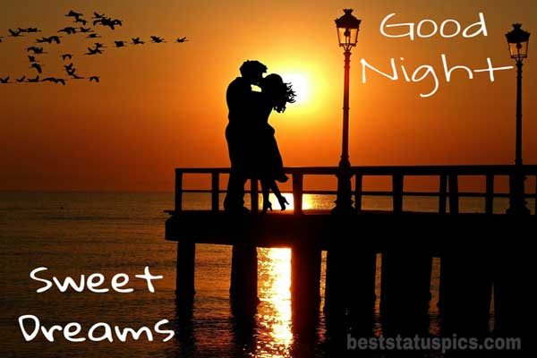 Good night with love couple featured