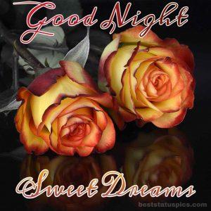Good night sweet dreams yellow rose images
