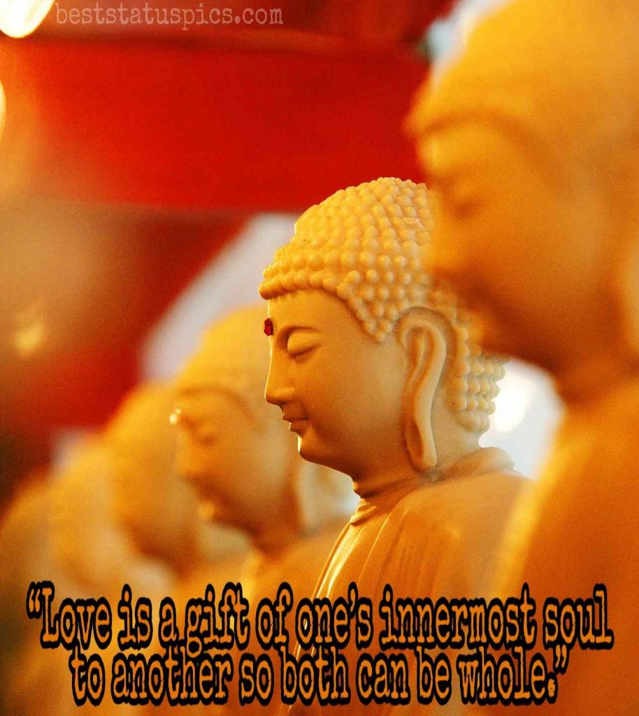 Buddha quotes on love and happiness image