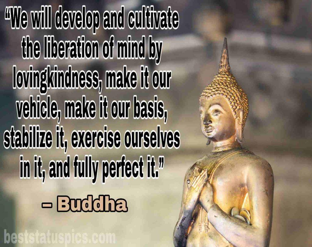 Gautam buddha love quotes image