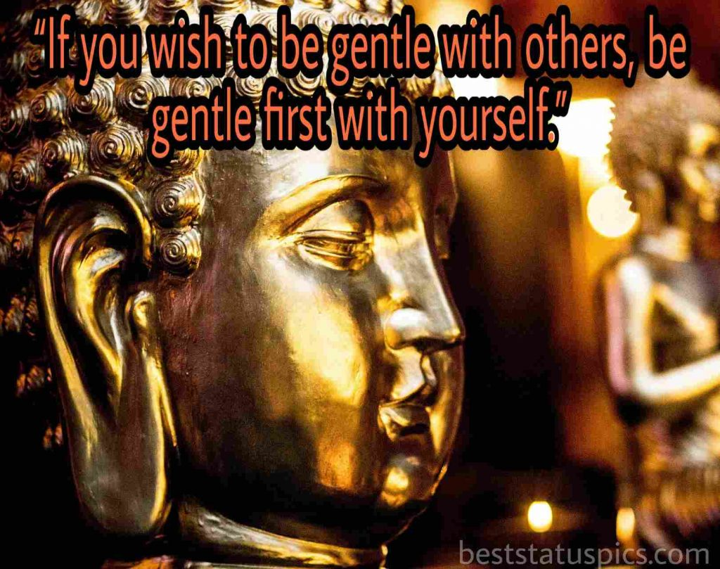 Buddha quotes self love image