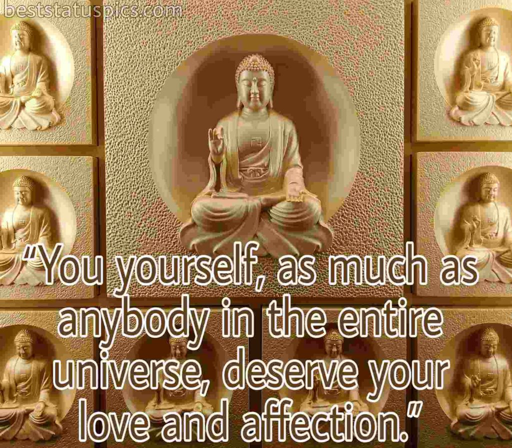 Buddha quotes love yourself image