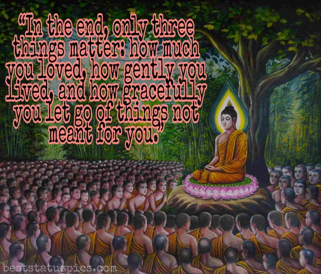 Love quotes by buddha image