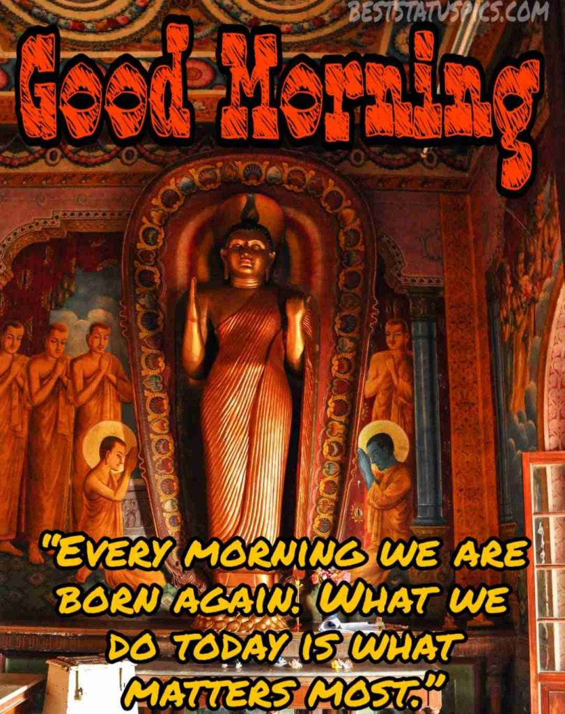 buddha inspirational good morning quotes image