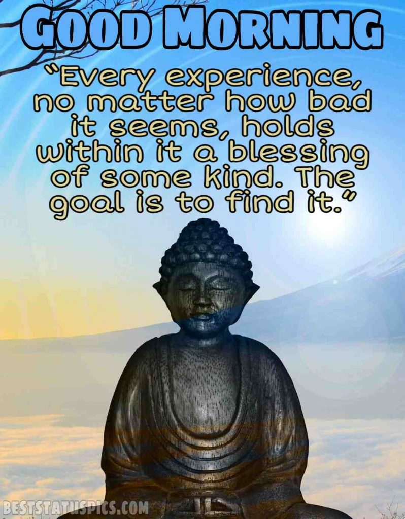 buddha quotes with good morning images