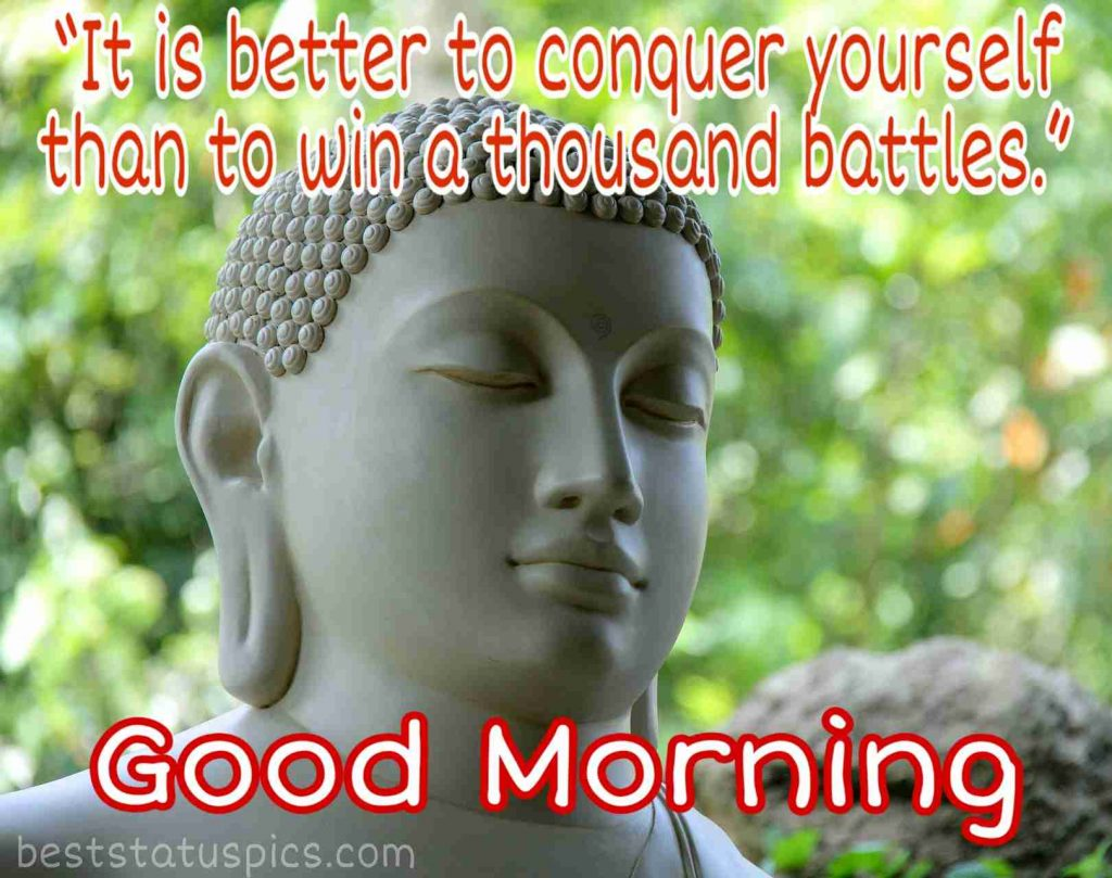 Good morning quotes by buddha image HD