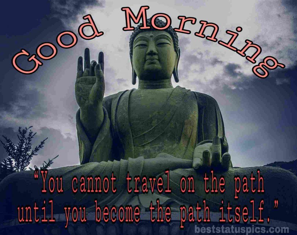 good morning quotes lord buddha image