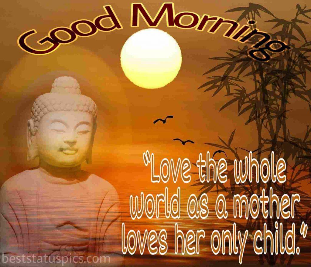 buddha good morning quotes in english image