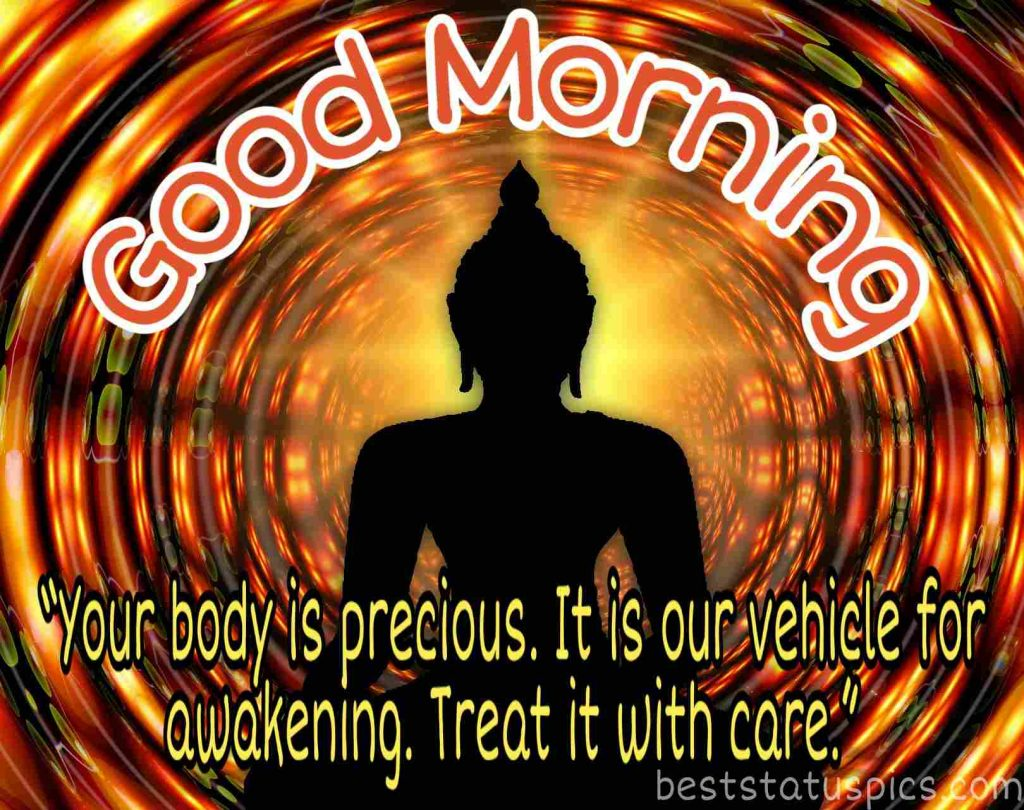 buddha quotes on good morning wishes image
